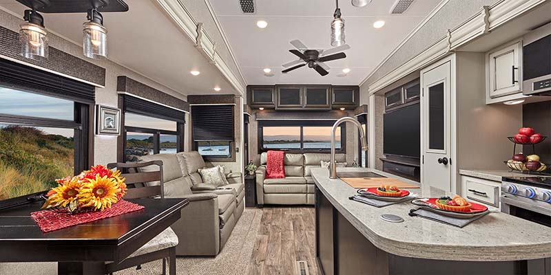 Inside Jayco Eagle Fifth Wheel