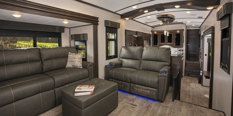 Jayco North Point Fifth Wheel Living Room