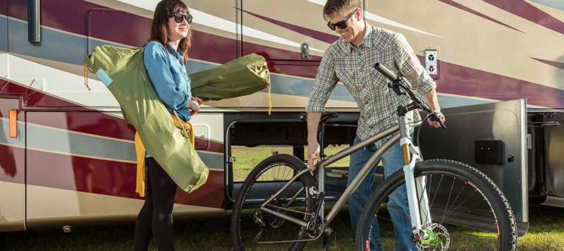 Couple with Motorhome