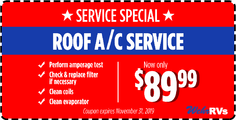 Service Special Coupon - Roof Air Conditioner