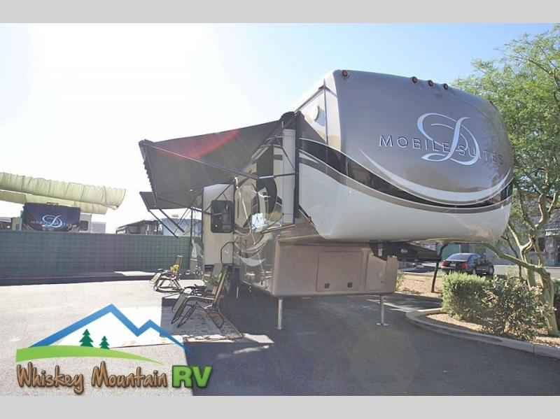 NEARLY 43 FEET OF LUXURY LEVEL RV LIVING - 5 SLIDES AND TRIPLE AC UNITS