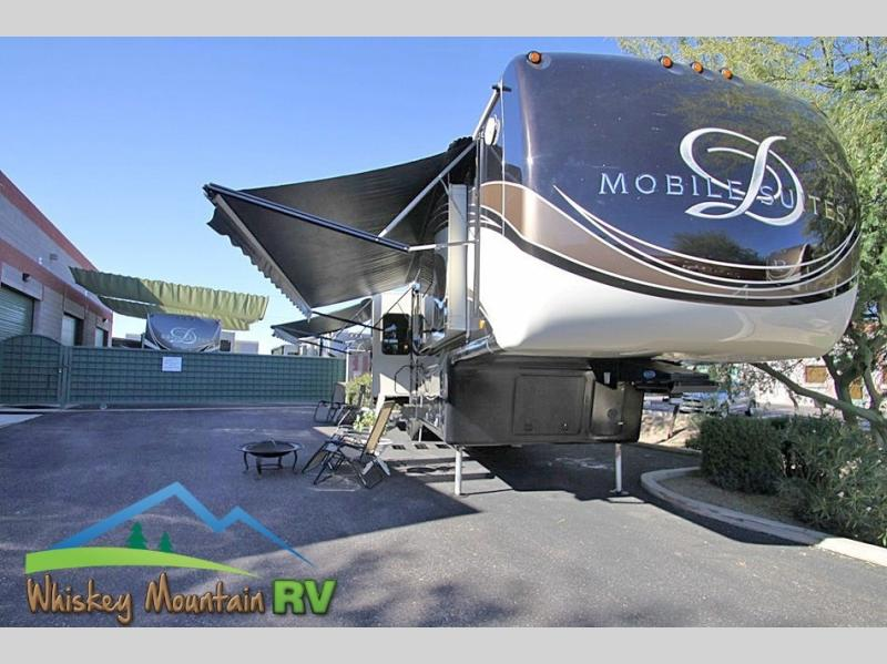 JUST OVER 40' QUAD SLIDE FIBERGLASS ROOF INDEPENDENT SUSPENSION DUAL POWER PATIO AWNINGS