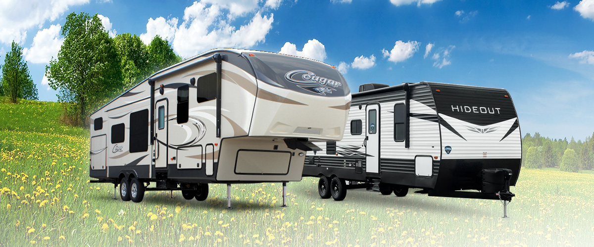 Fifth wheel and Travel Trailer