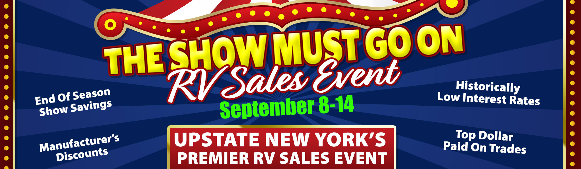 The Show Must Go On Sales Event