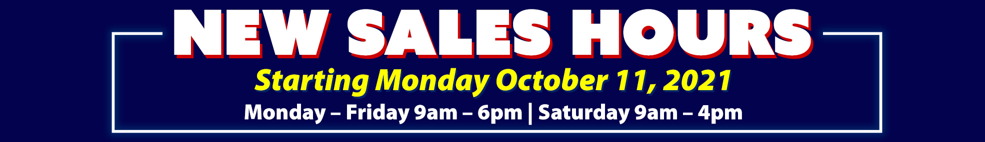 New Sales Hours