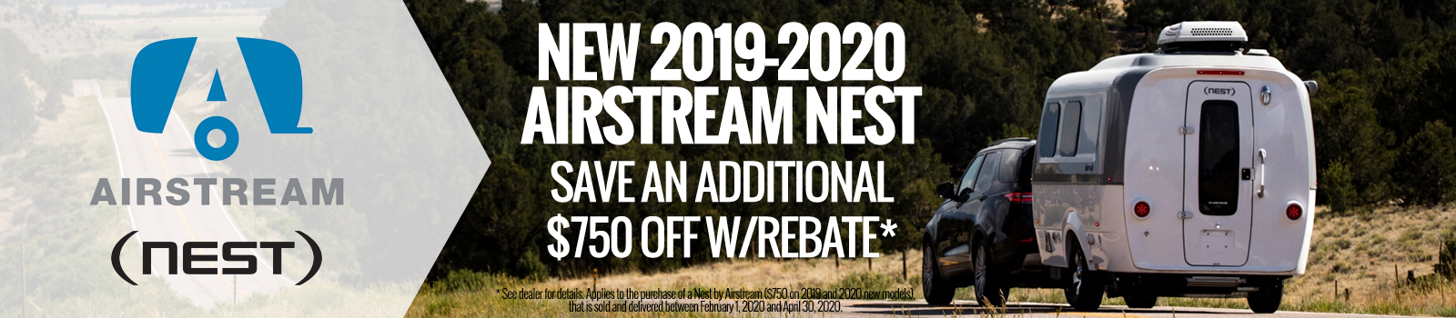 Airstream Nest rebate